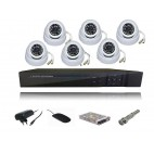 NAVKAR 4 PCs AHD Night Vision 2 MP DOME CCTV CAMERA WITH 4 CHANNEL PENTA DVR POWER SUPPLY & CONNECTORS WITH 1 YR WARRANTY