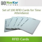 Set Of 100 RFID Cards For Biometric Time Attendance System