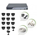 Set of 11 NIGHT Vision CCTV Dome Cameras + 2 CCTV Bullet Cameras and 16 Ch DVR With All Required Connectors