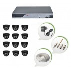Set of 12 NIGHT Vision CCTV Dome Cameras and 16 Ch DVR With All Required Connectors