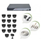 Set of 13 NIGHT Vision CCTV Dome Cameras + 1 CCTV Bullet Camera and 16 Ch DVR With All Required Connectors