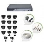 Set of 10 NIGHT Vision CCTV Dome Cameras + 4 CCTV Bullet Cameras and 16 Ch DVR With All Required Connectors