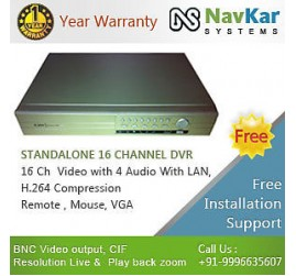 16 Channel Standalone DVR ELECTRONIC EYE wid 3G & online Veiwing in Web Browser