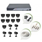 Set of 9 NIGHT Vision CCTV Dome Cameras + 5 CCTV Bullet Cameras and 16 Ch DVR With All Required Connectors