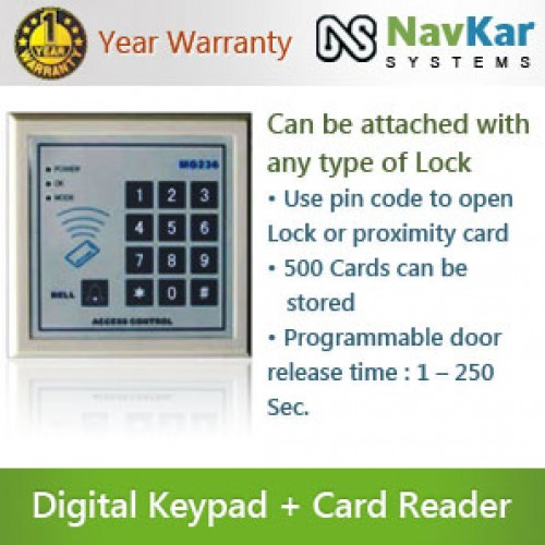 door access control system with digital keypad rfid card reader ns mg 236b rs2. Black Bedroom Furniture Sets. Home Design Ideas