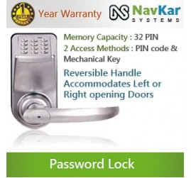 Smart Password Based Door Locking System Access Methods: (PIN + Key) NS-3798