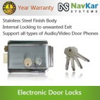 Electronic Door Lock Stainless Steel for Wooden and Metal Doors with Dead Locking (Lock Can Be Free) NSEL-390