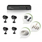 Set of 4 CCTV Bullet Cameras and 8 Ch DVR With All Required Connectors