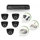 Set of 5 NIGHT Vision CCTV Dome Cameras and 8 Ch DVR With All Required Connectors