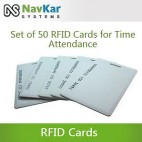 Set Of 50 RFID Cards For Biometric Time Attendance System