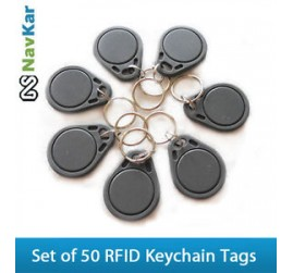 Set of 50 RFID Smart Keychain Tags for Time Attendance or Access Control System