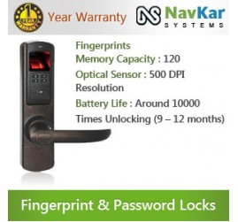 Fingerprint + Password Door Locking System with Reversible Handled NS-5600