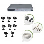 Set of 8 CCTV Bullet Cameras and 16 Ch DVR With All Required Connectors