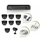 Set of 7 NIGHT Vision CCTV Dome Cameras + 1 CCTV Bullet Camera and 8 Ch DVR With All Required Connectors