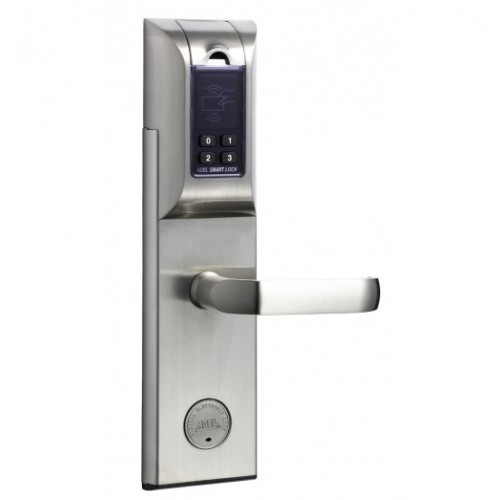 Adel Fingerprint Digital Door Lock (SS) based on Fingerprint + Password & key + Mechanical Key Model Adel-4920