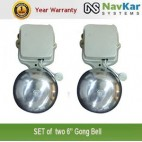 NAVKAR Set of 2 Electric Gong Bell 4 inches