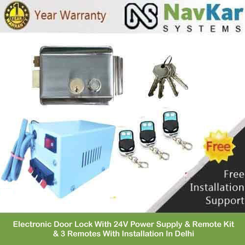 Navkar Electronic Door Lock With 24v Power Supply Amp Remote