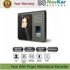 NAVKAR Face with Finger Time & Attendance Recorder NS104F