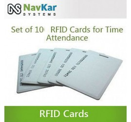 Set Of 10 RFID Cards For Biometric Time Attendance System