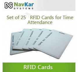 Set Of 25 RFID Cards For Biometric Time Attendance System