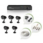 Set of 5 CCTV Bullet Cameras and 8 Ch DVR With All Required Connectors