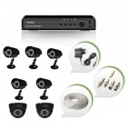 Set of 5 CCTV Bullet Cameras + 2 NIGHT Vision CCTV Dome Cameras and 8 Ch DVR With All Required Connectors