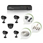 Set of 4 CCTV Bullet Cameras + 1 NIGHT Vision CCTV Dome Camera and 8 Ch DVR With All Required Connectors
