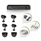 Set of 4 CCTV Bullet Cameras + 2 NIGHT Vision CCTV Dome Cameras and 8 Ch DVR With All Required Connectors