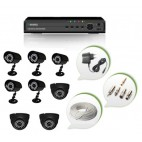 Set of 5 CCTV Bullet Cameras + 3 NIGHT Vision CCTV Dome Cameras and 8 Ch DVR With All Required Connectors