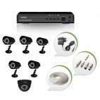 Set of 5 CCTV Bullet Cameras + 1 NIGHT Vision CCTV Dome Camera and 8 Ch DVR With All Required Connectors