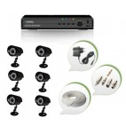 Set of 6 CCTV Bullet Cameras and 8 Ch DVR With All Required Connectors
