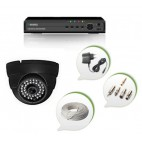 Set of NIGHT Vision CCTV Dome Camera and 4 Ch DVR With All Required Connectors