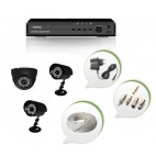 Set of 1 NIGHT Vision CCTV Dome Camera + 2 CCTV Bullet Cameras and 4 Ch DVR With All Required Connectors