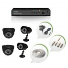 Set of 2 NIGHT Vision CCTV Dome Cameras + 2 CCTV Bullet Cameras and 4 Ch DVR With All Required Connectors