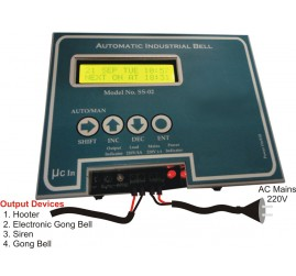 Automatic Industrial Bell / Hooter / Siren CONTROLLER Model - IB