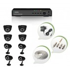 Set of 4 NIGHT Vision CCTV Dome Cameras + 4 CCTV Bullet Cameras and 8 Ch DVR With All Required Connectors