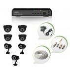 Set of 4 NIGHT Vision CCTV Dome Cameras + 3 CCTV Bullet Cameras and 8 Ch DVR With All Required Connectors