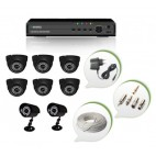 Set of 6 NIGHT Vision CCTV Dome Cameras + 2 CCTV Bullet Cameras and 8 Ch DVR With All Required Connectors