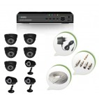 Set of 5 NIGHT Vision CCTV Dome Cameras + 3 CCTV Bullet Cameras and 8 Ch DVR With All Required Connectors