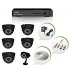 Set of 5 NIGHT Vision CCTV Dome Cameras + 1 CCTV Bullet Camera and 8 Ch DVR With All Required Connectors