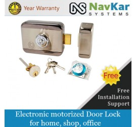 Mild Steel Electronic Door Lock for Wooden & Metal Doors with Motorised Technology NSEL-210