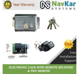 NAVKAR Electronic Door Lock with Remote Kit & 2 Remotes