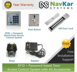 RFID + Password based Digital Keypad Door Access Control System with All Accessories