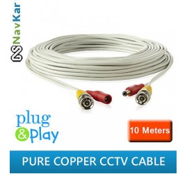 10 MTR CCTV PURE COPPER WIRE/CABLE FR DOME CAMERA BULLET CAMERA CCTV SYSTEM CCTV CAMERA