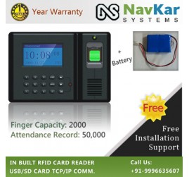 Biometric Fingerprint+RFID Card based Time Attendance Machine with Battery Backup