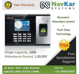 Biometric Fingerprint + RFID Attendance System with Push Data Technology