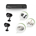 Set of 2 CCTV Bullet Cameras and 4 Ch DVR With All Required Connectors