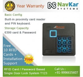 Realtime RFID Card / Password Based Single Door Lock System T123