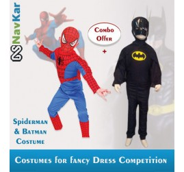 Combo offer of Spiderman + Batman Costume for Kids | B'Day Gift for Boys