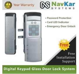 New Digital Keypad Glass Door Lock System GL 100